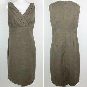 Ann Taylor Womens 6 Dress Career Beige Sleeveless
